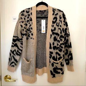 Leopard Print Cardigan size Small